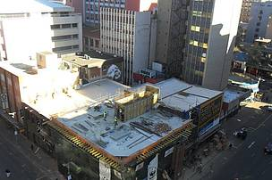 Progress on the Braamfontein build as at 26 August 2014.