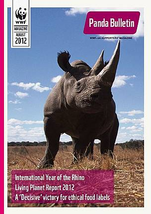 The cover of the August 2012 Panda Bulletin