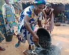 Baka Women Processing Njansang during training