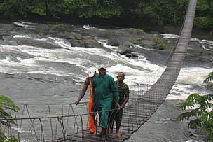 Mana bridge at entrance to the Korup National Park  	© Janet Mukoko/WWF