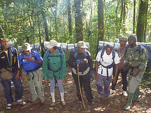 Ecoguards set to embark on a filed trip In the Bakossi National Park  	© MINFOF/Kupe Muanenguba