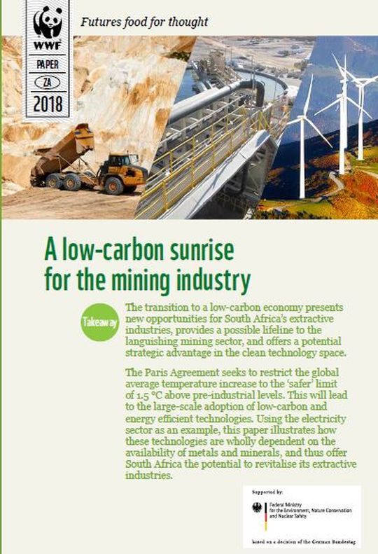 A low-carbon sunrise for the mining industry publication cover for article