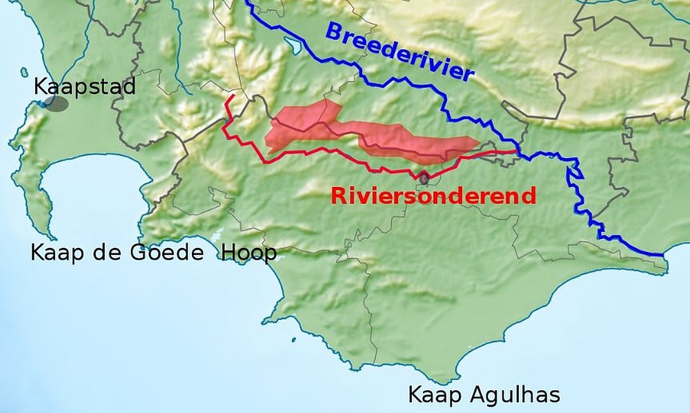 Riviersonderend river map