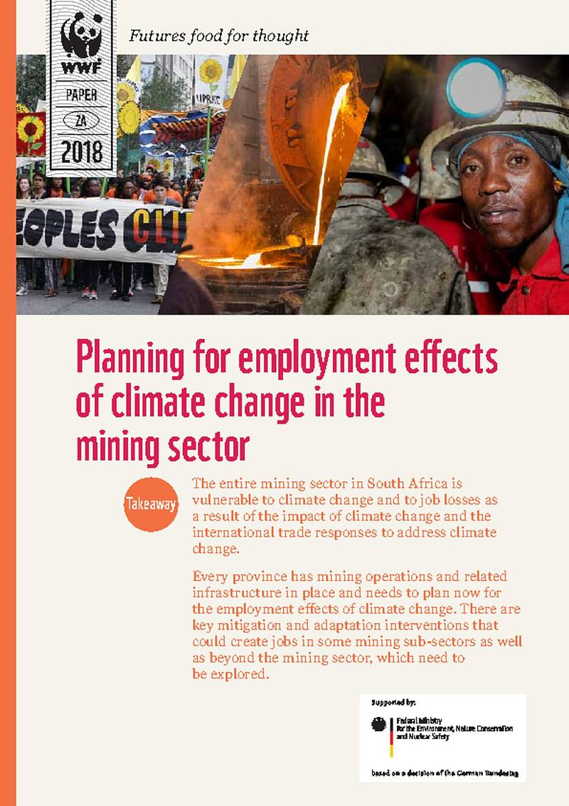 Planning for employment effects of climate change in the mining sector.